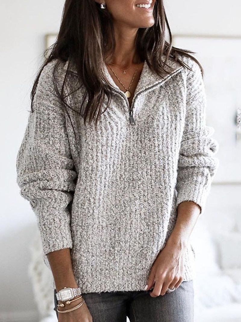 Ericdress Thin Regular Lapel Women's Sweater