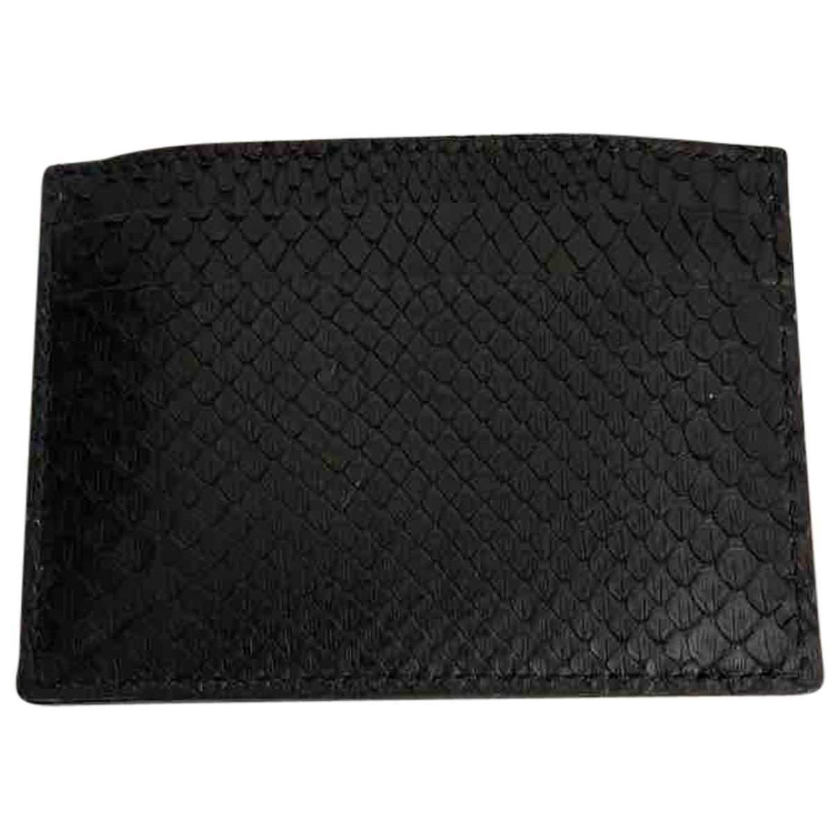 Gucci - Petite maroquinerie   pour homme en python - noir