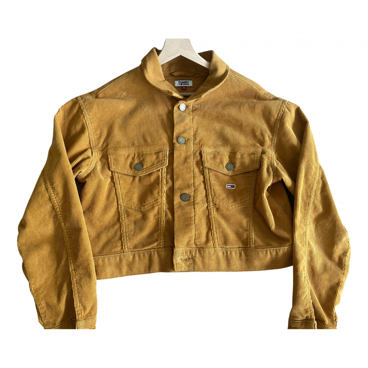 Tommy Hilfiger N Yellow Cotton Leather jacket for Women S International
