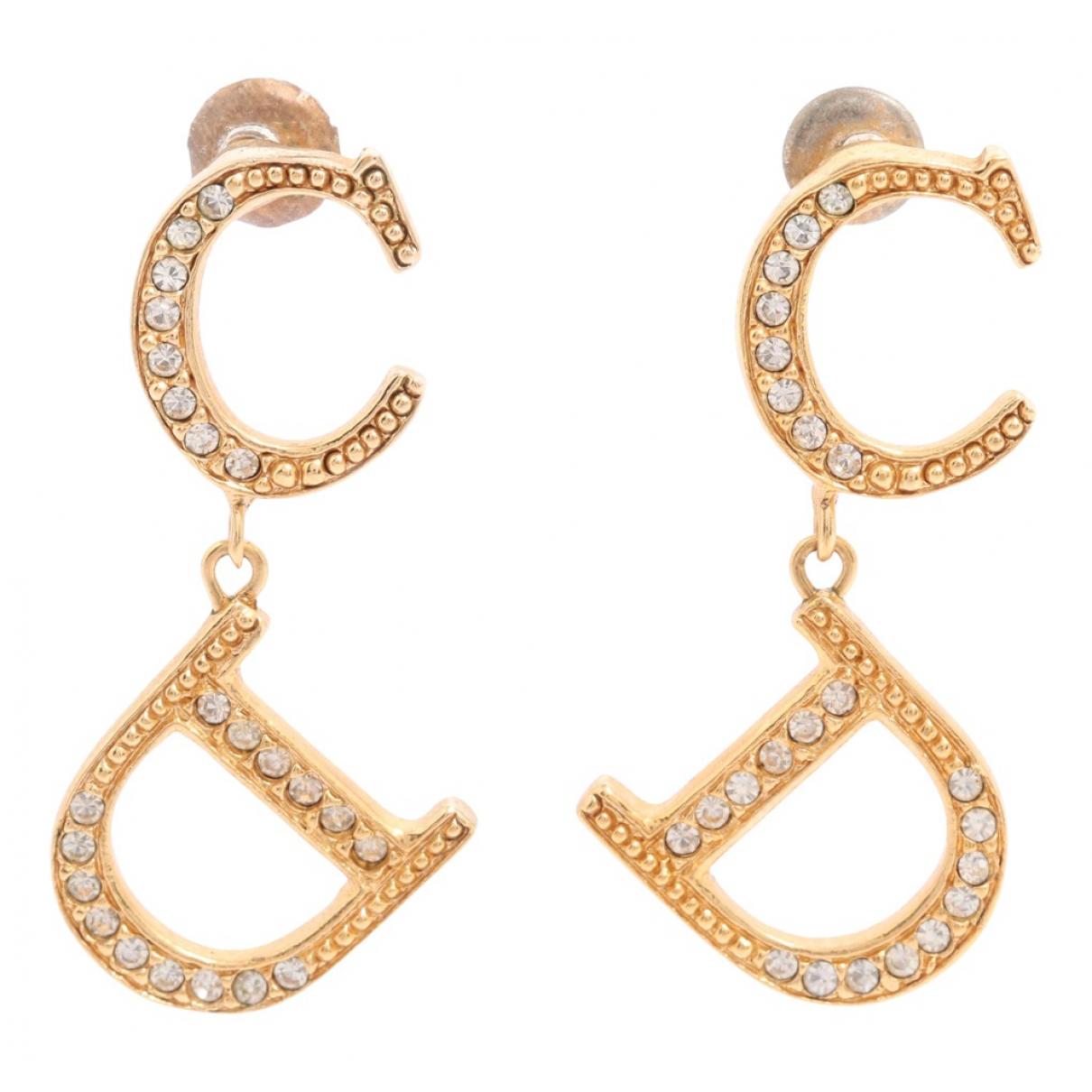 Dior - Boucles doreilles   pour femme en metal - dore