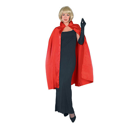 Red Satin Adult Cape Costume, One Size , Multiple Colors