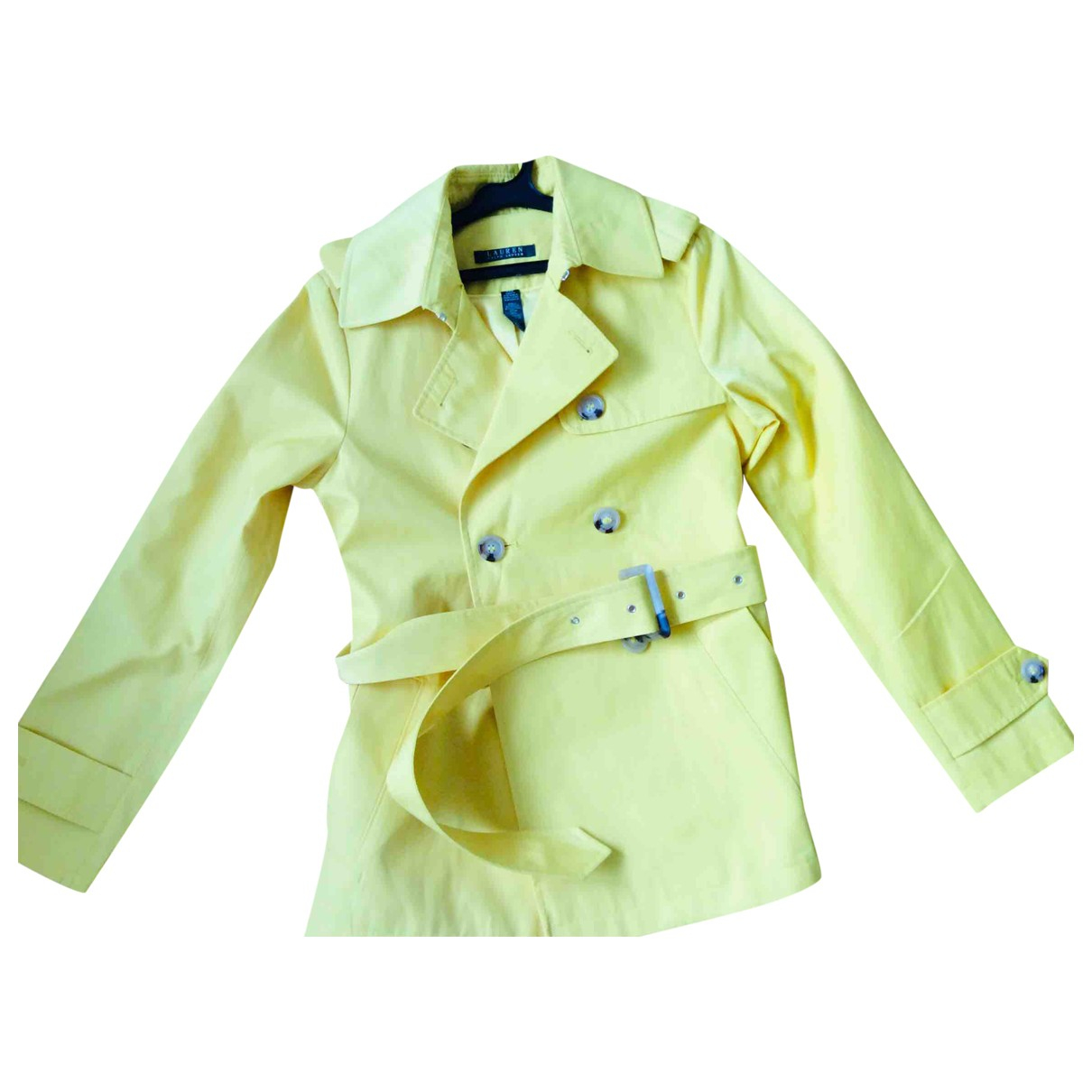 Lauren Ralph Lauren \N Yellow Trench coat for Women 38 IT