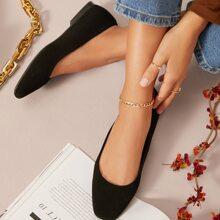 Zapatillas ballet sin cordones de cuero vegano