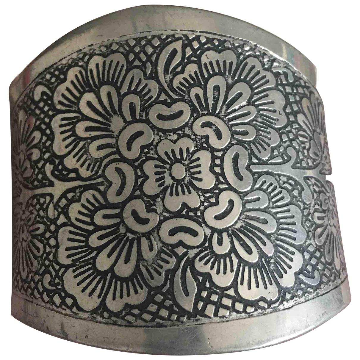 - Bracelet Motifs Floraux pour femme en metal - argente