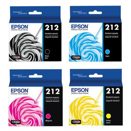 Epson WorkForce WF-2850 Original Ink Cartridges Black/Cyan/Magenta/Yellow, 4-Pack Combo
