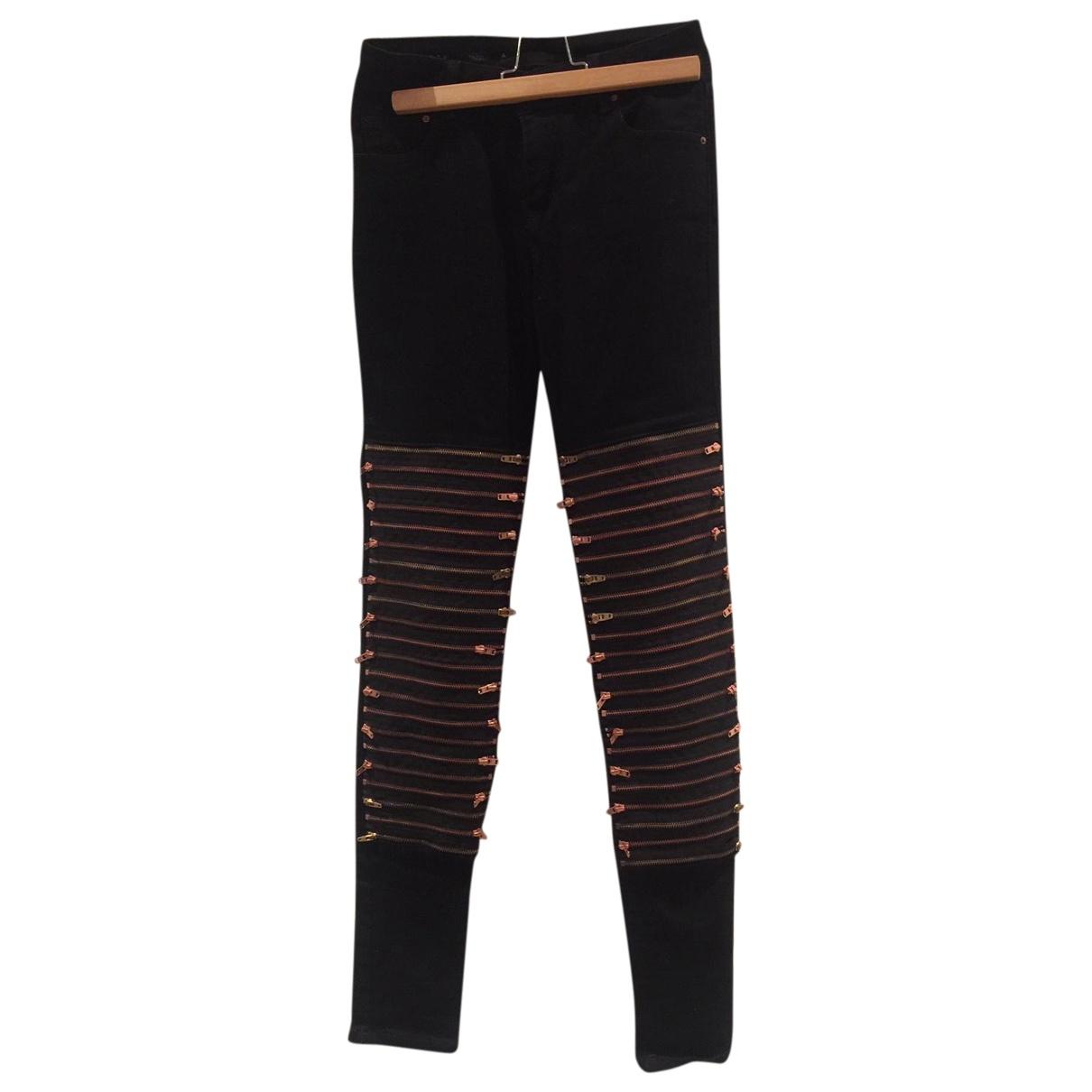 Avelon \N Black Cotton - elasthane Jeans for Women 25 US
