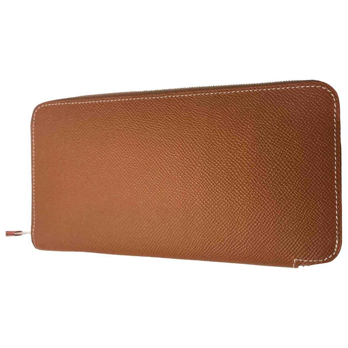 Hermès Azap Gold Leather wallet for Women \N