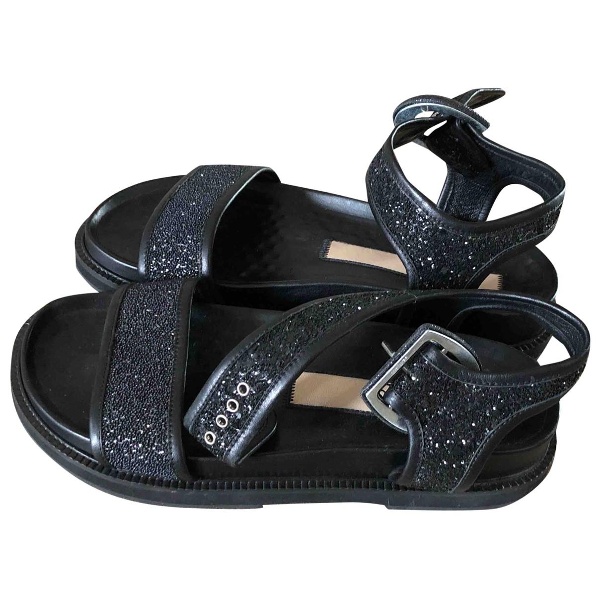 N°21 \N Black Glitter Sandals for Women 39 EU