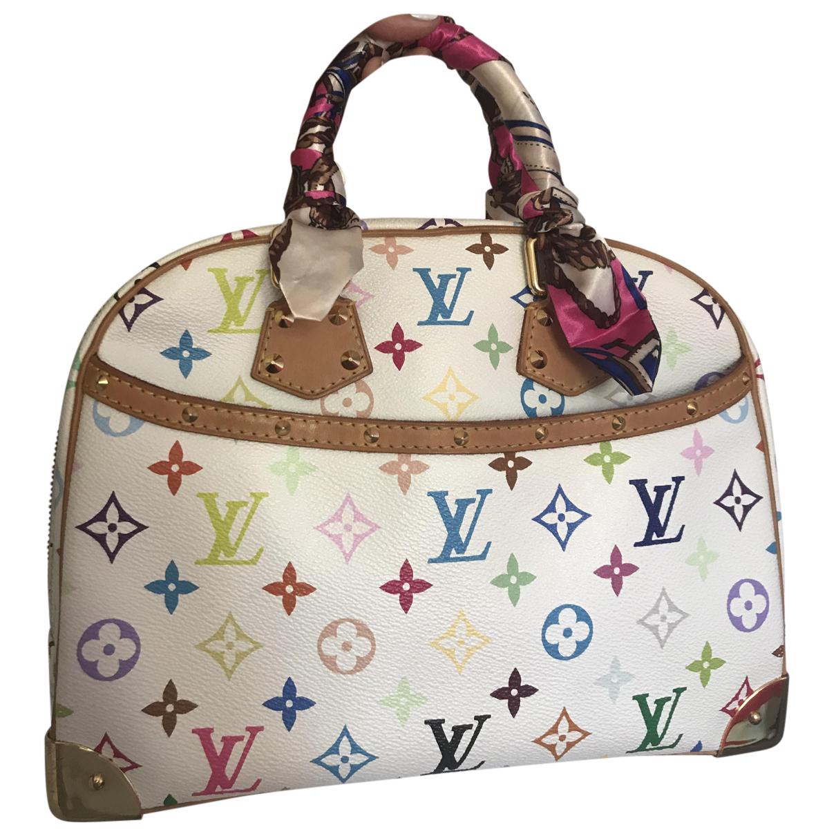 Louis Vuitton - Sac a main Trouville pour femme en toile - blanc