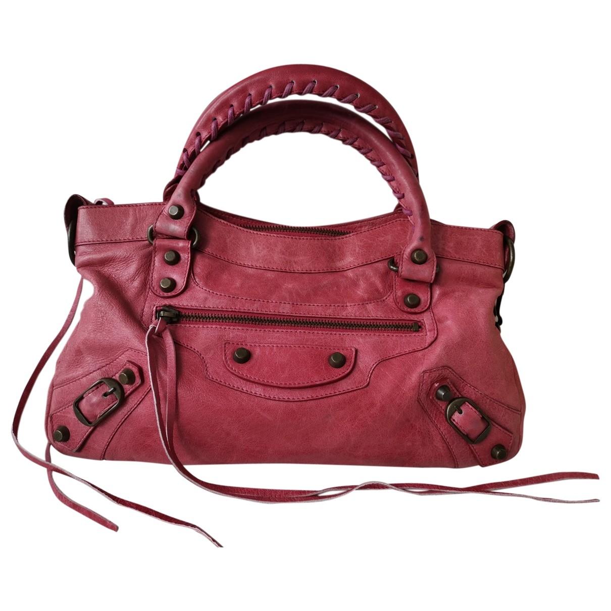 Balenciaga First Handtasche in  Rosa Leder