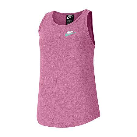 Nike Big Girls Sleeveless T-Shirt, Large , Pink