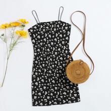 Plus Daisy Print Dress