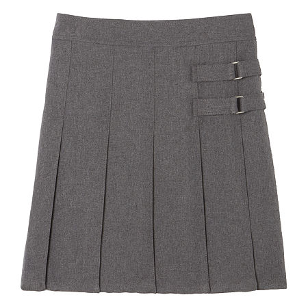 French Toast Little & Big Girls Adjustable Waist Scooter Skirt, 10 , Gray
