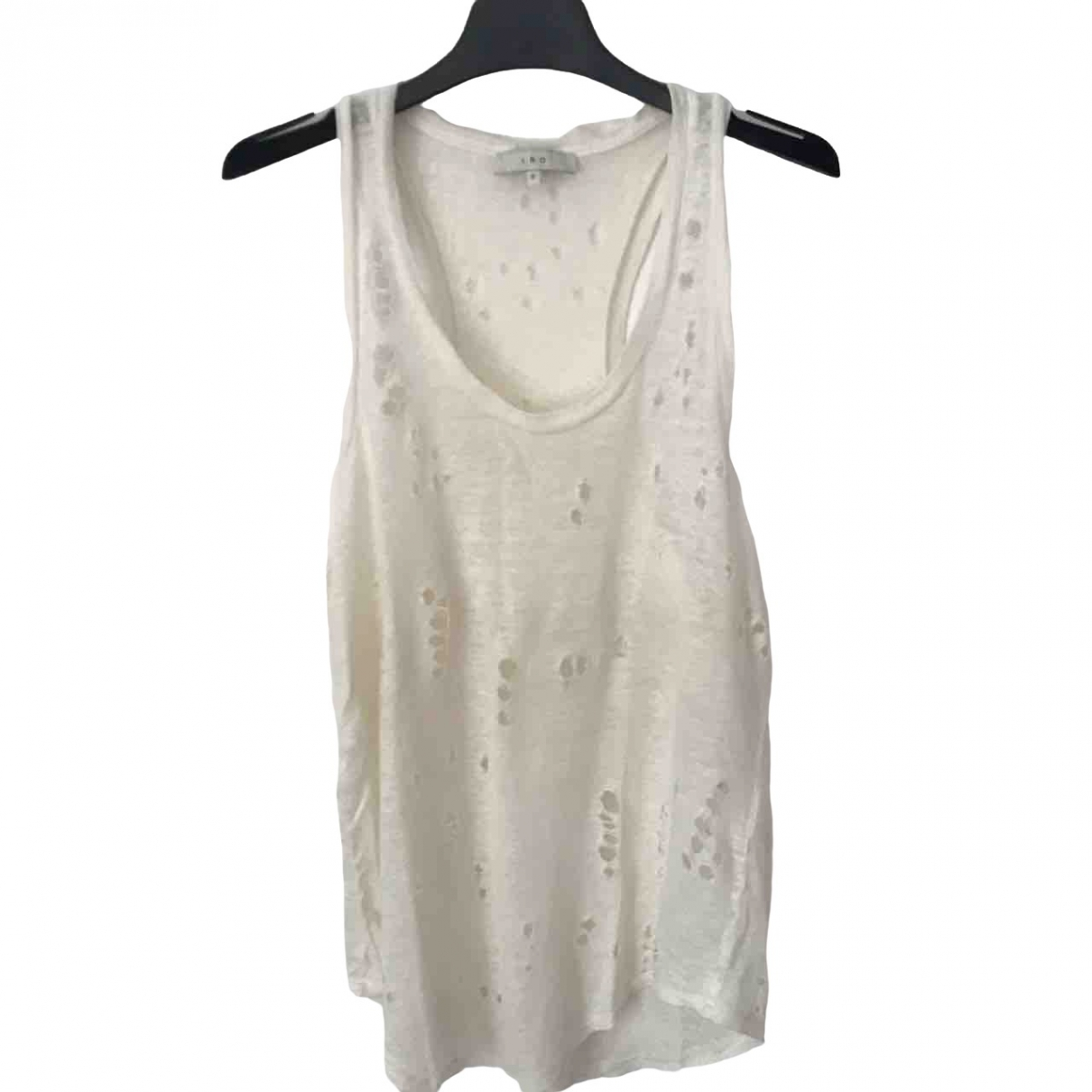 Iro \N White Linen  top for Women 0 0-5