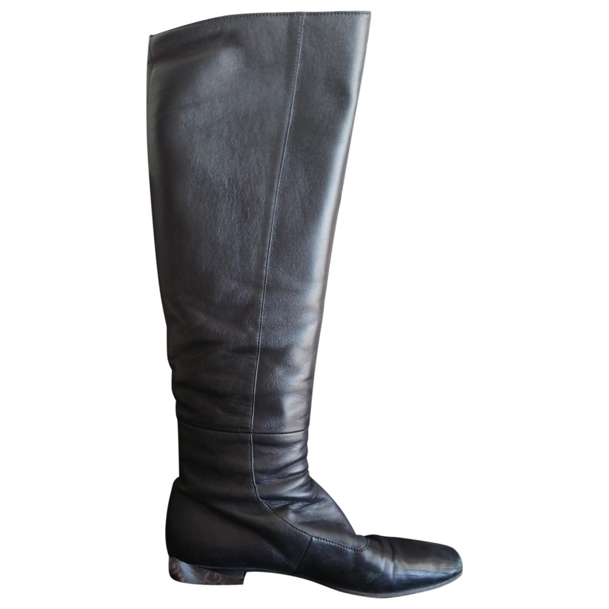 Gucci \N Black Leather Boots for Women 36.5 IT