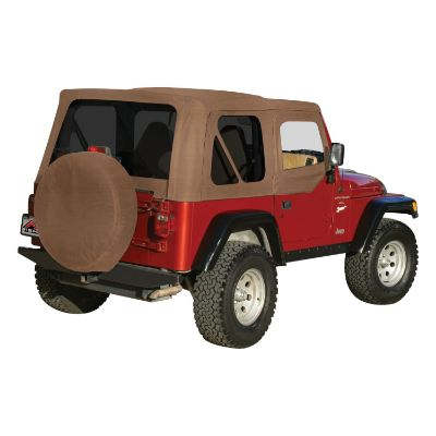 RT Off-Road Replacement Soft Top with Tinted Windows and Upper Door Skins (Spice) - RT10337T