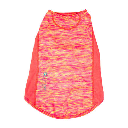 Pet Life  Active 'Warf Speed' Heathered Ultra-Stretch Sporty Performance Dog T-Shirt, Small , Orange