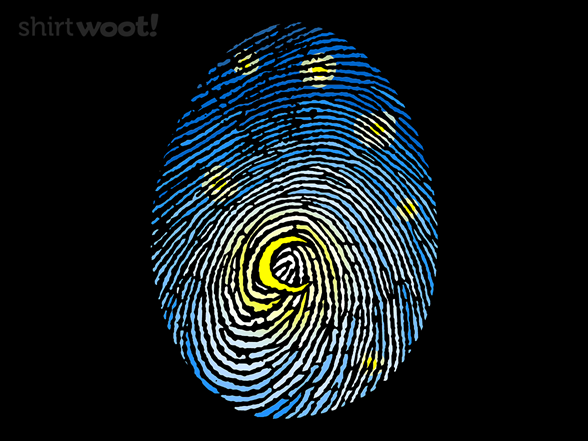 Starry Fingerprint T Shirt