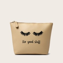 Letter Graphic Clutch Bag