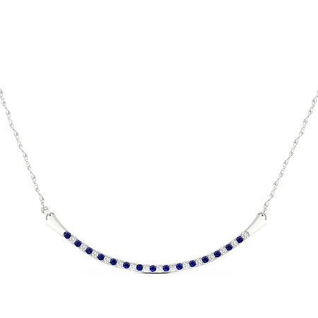 Womens Diamond Accent Genuine Blue Sapphire 10K Gold Pendant, One Size , No Color Family