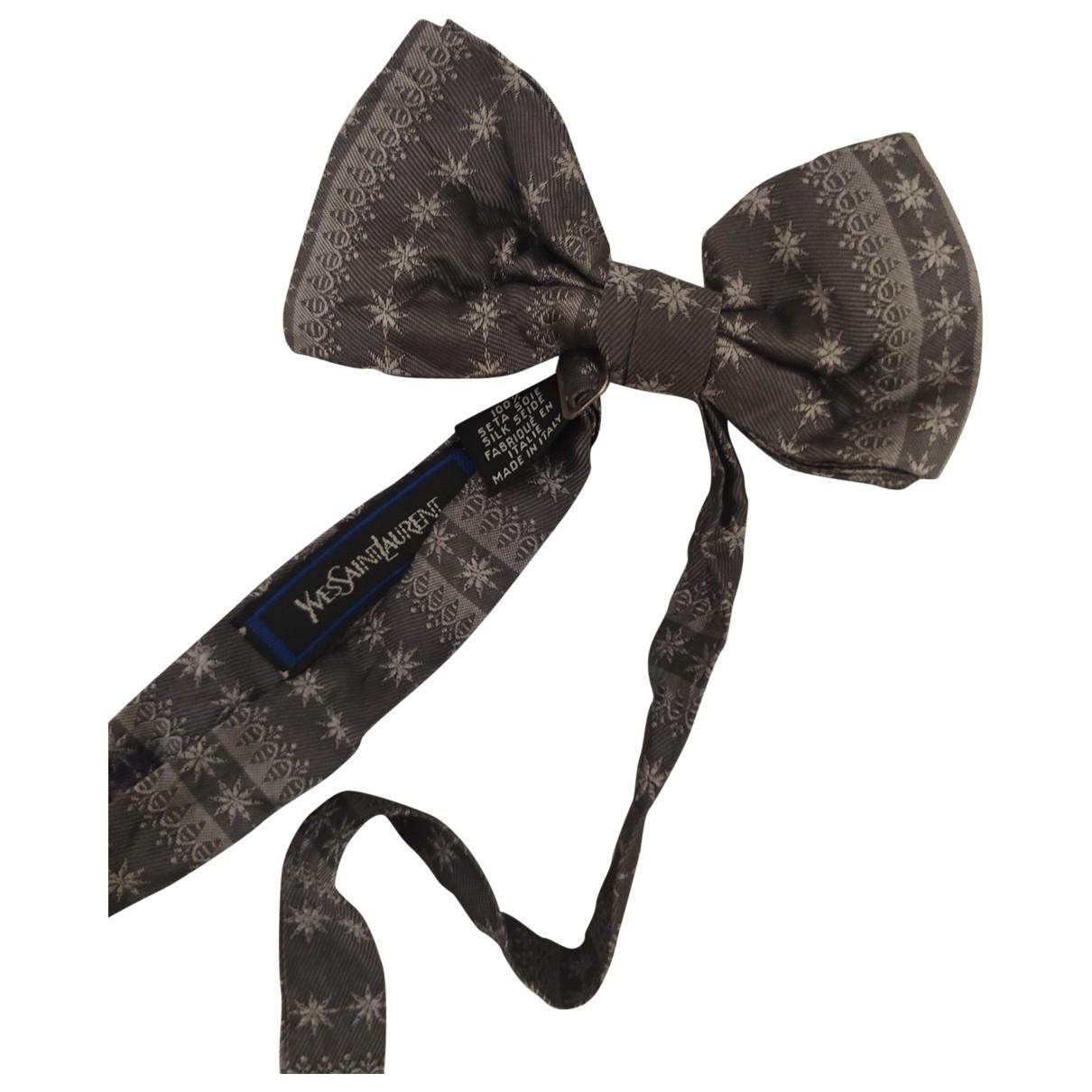 Yves Saint Laurent - Cravates   pour homme en soie - gris