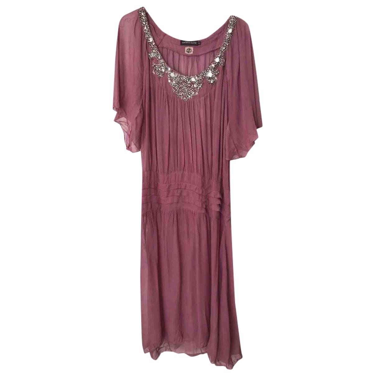 Antik Batik \N Pink Silk dress for Women 36 FR