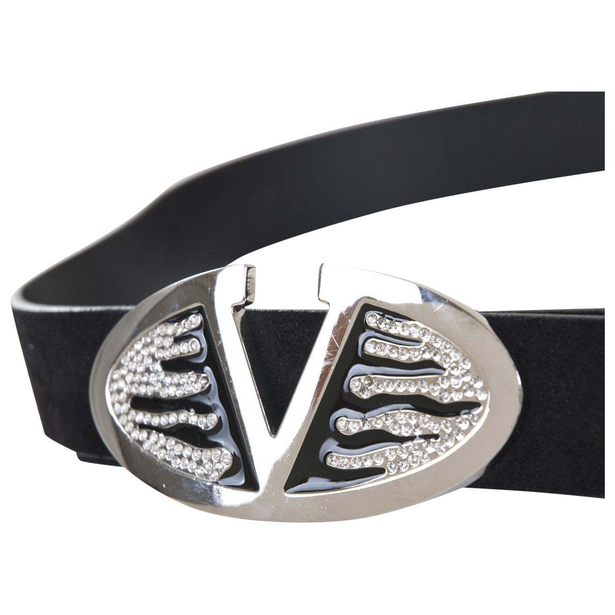Valentino Garavani \N Black Leather belt for Women 75 cm
