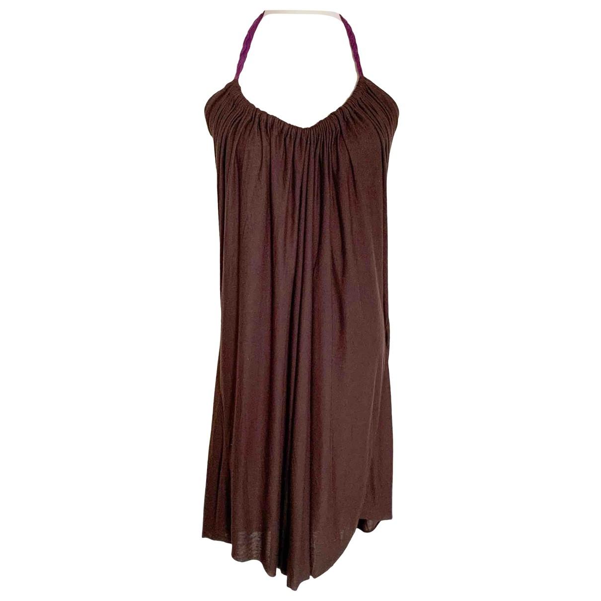 T-bags \N Kleid in  Braun Baumwolle