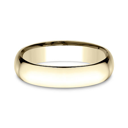 Mens 14K Yellow Gold 5MM Light Comfort-Fit Wedding Band, 10 1/2 , No Color Family