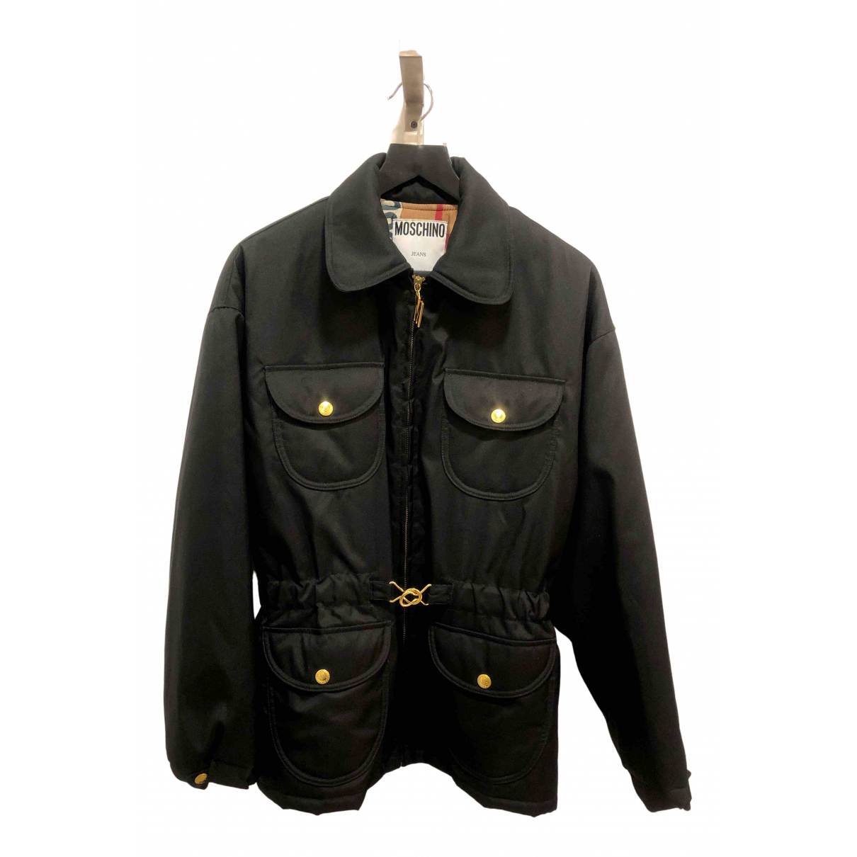 Moschino Cheap And Chic \N Lederjacke in  Schwarz Polyester