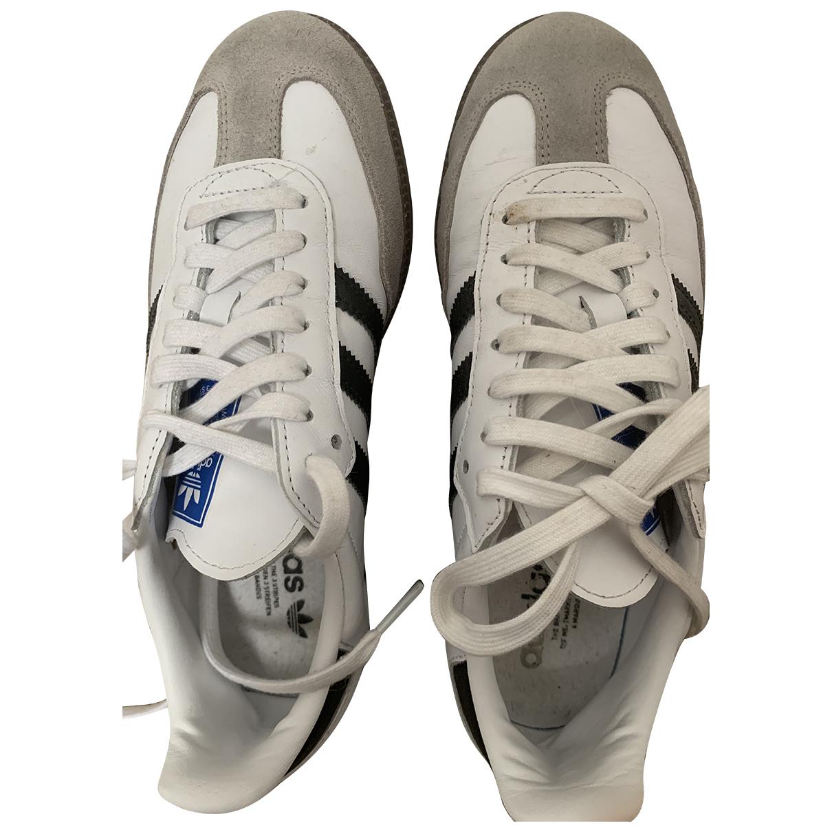 Adidas - Baskets Samba pour femme en cuir - blanc