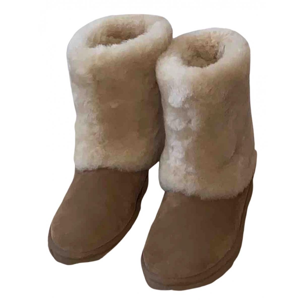 Ugg - Bottes   pour femme en suede - camel