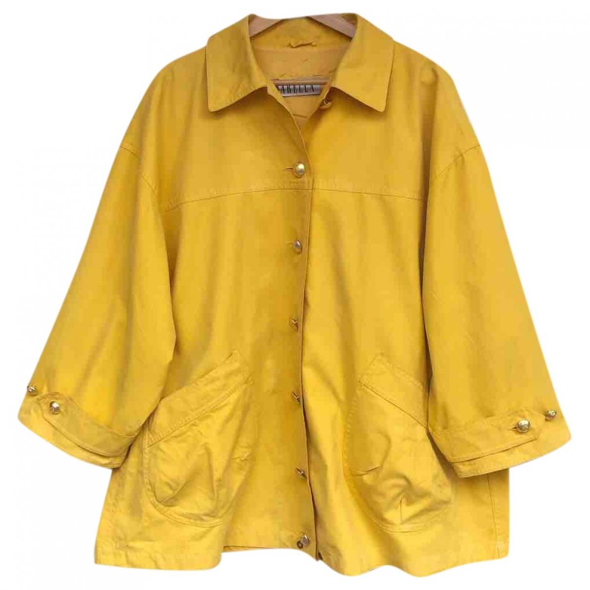 Marella \N Yellow Cotton jacket for Women 40 IT