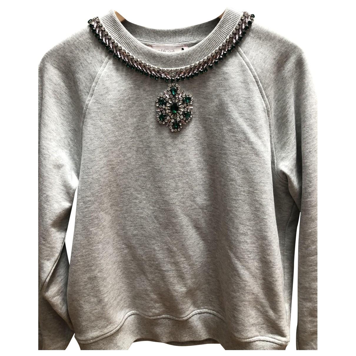 Giambattista Valli X H&m - Pull   pour femme en coton - gris