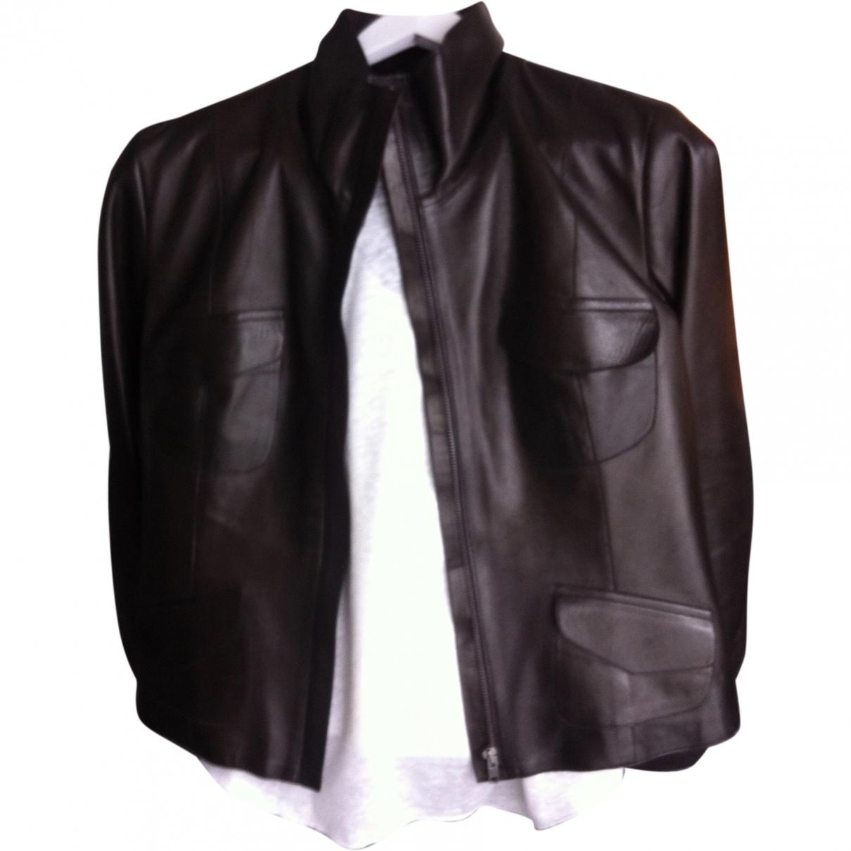 Gerard Darel \N Brown Leather Leather jacket for Women 40 FR