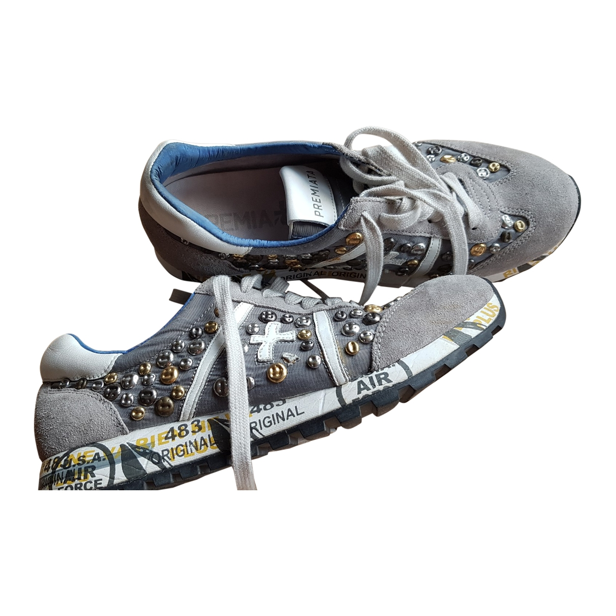 Premiata \N Grey Leather Trainers for Women 37 EU