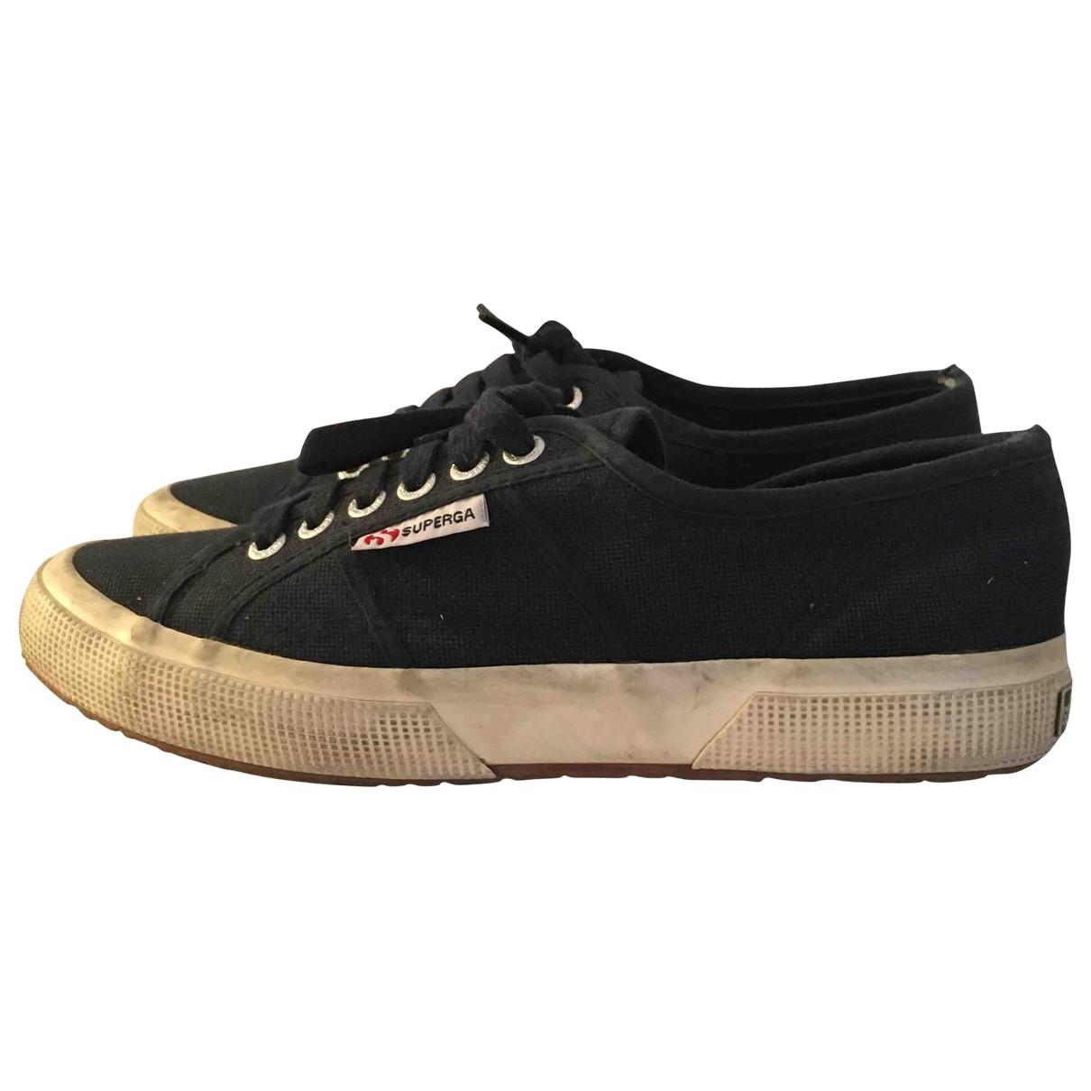 Superga \N Sneakers in  Marine Leinen