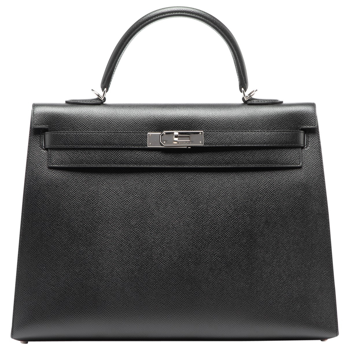 Hermès Kelly 35 Black Leather handbag for Women \N