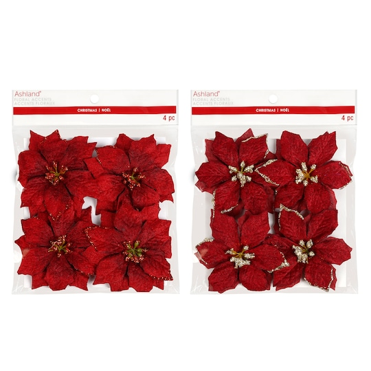 Assorted Red Poinsettia By Ashland® | Michaels®