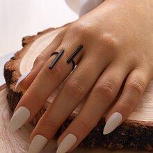 1 Stueck Ring mit Leiste Dekor