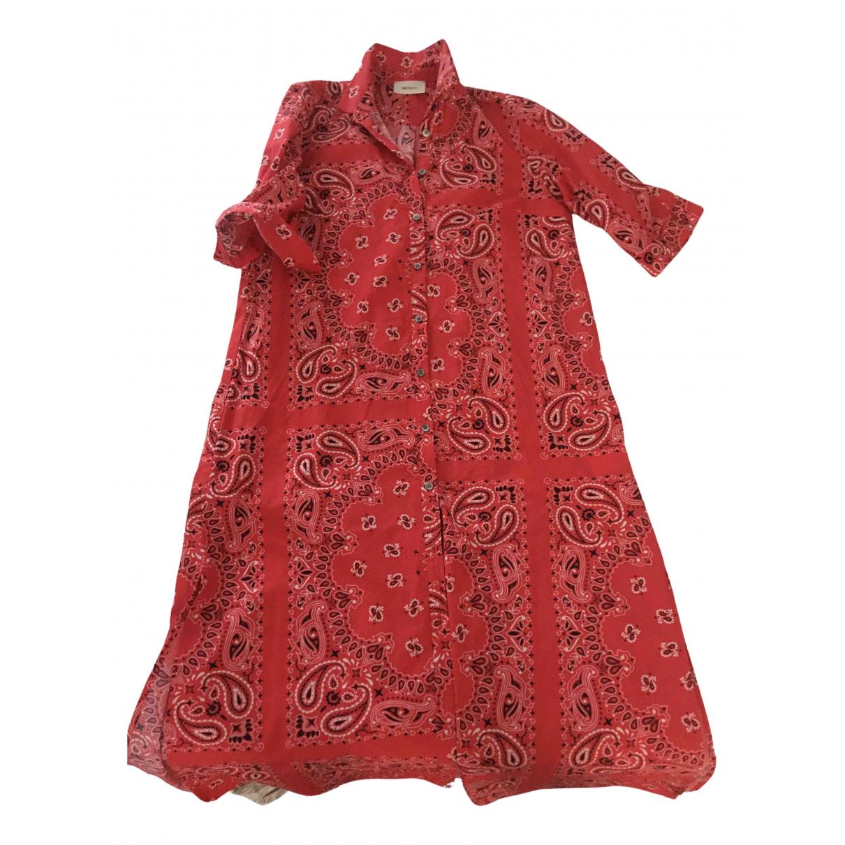 Vicolo \N Kleid in  Rot Baumwolle