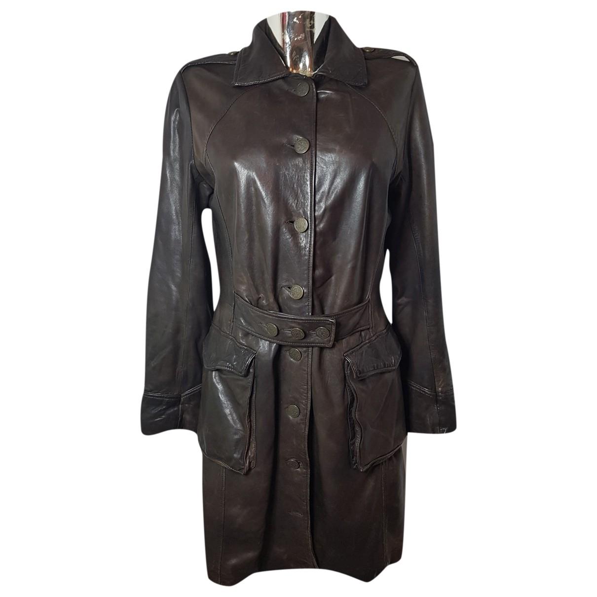 Jean Paul Gaultier \N Brown Leather coat for Women 44 FR