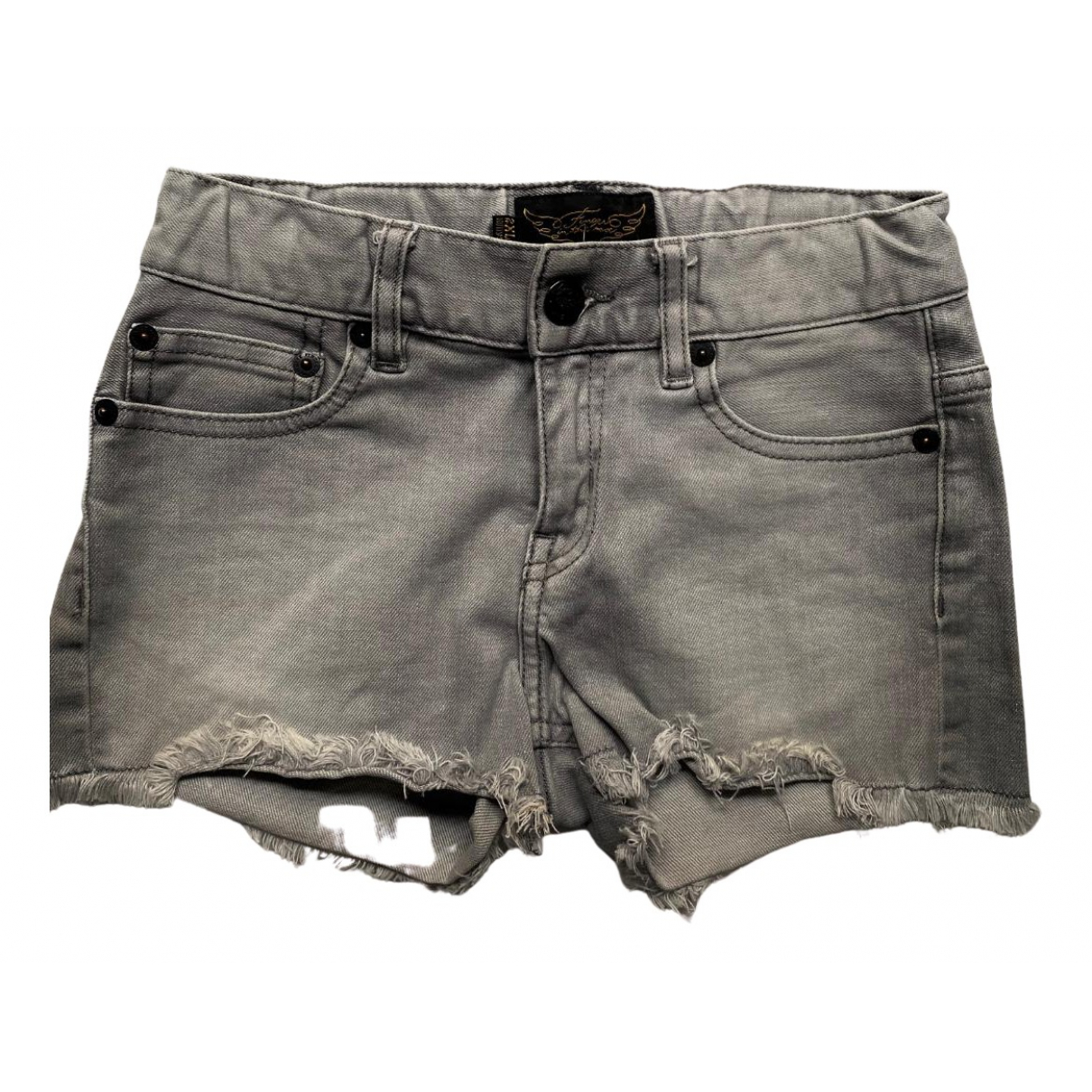 Finger In The Nose - Short   pour enfant en denim - gris