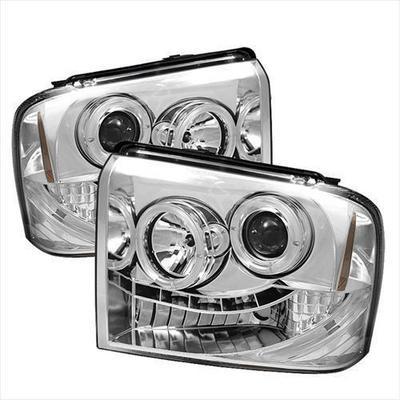 Spyder Auto Group Halo LED Projector Headlights (Chrome) - 5010551