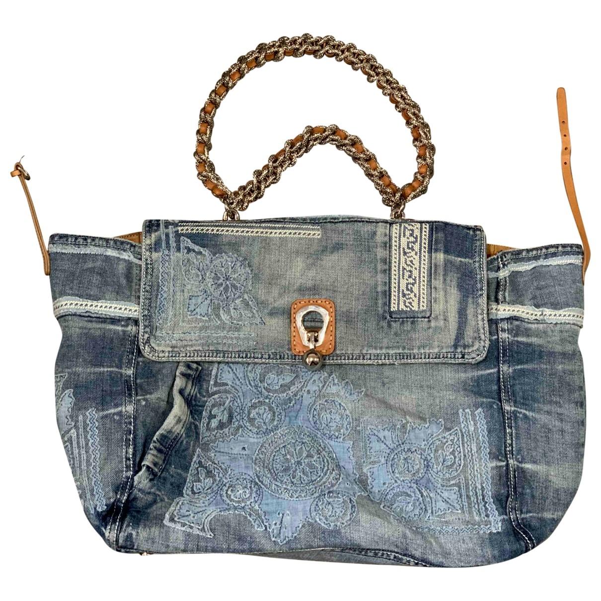 Ermanno Scervino \N Handtasche in  Blau Denim - Jeans