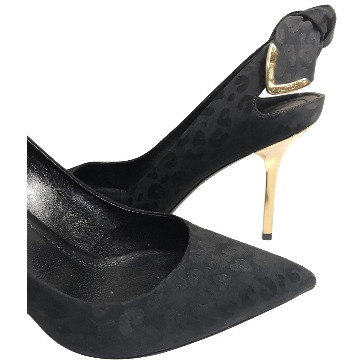 Louis Vuitton \N Black Leather Heels for Women 37 EU