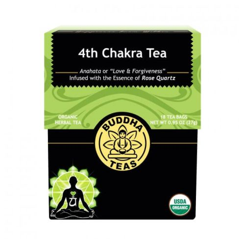 Organic 4th Chakra Tea Heart 18 Bags by Buddha Teas