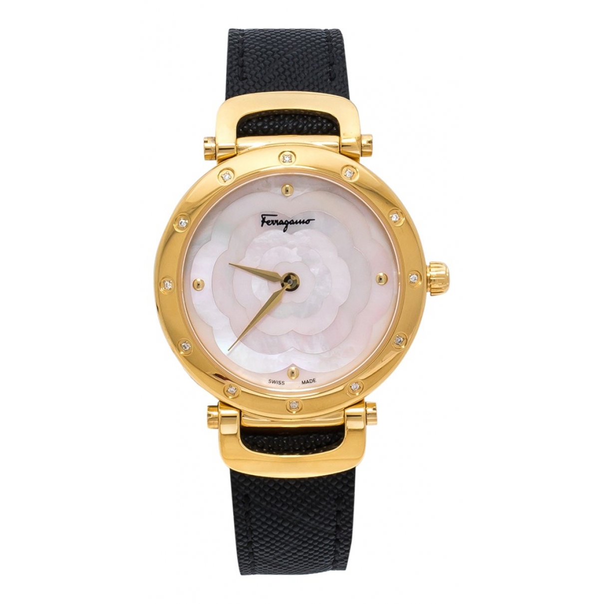 Salvatore Ferragamo \N Pink Gold plated watch for Women \N