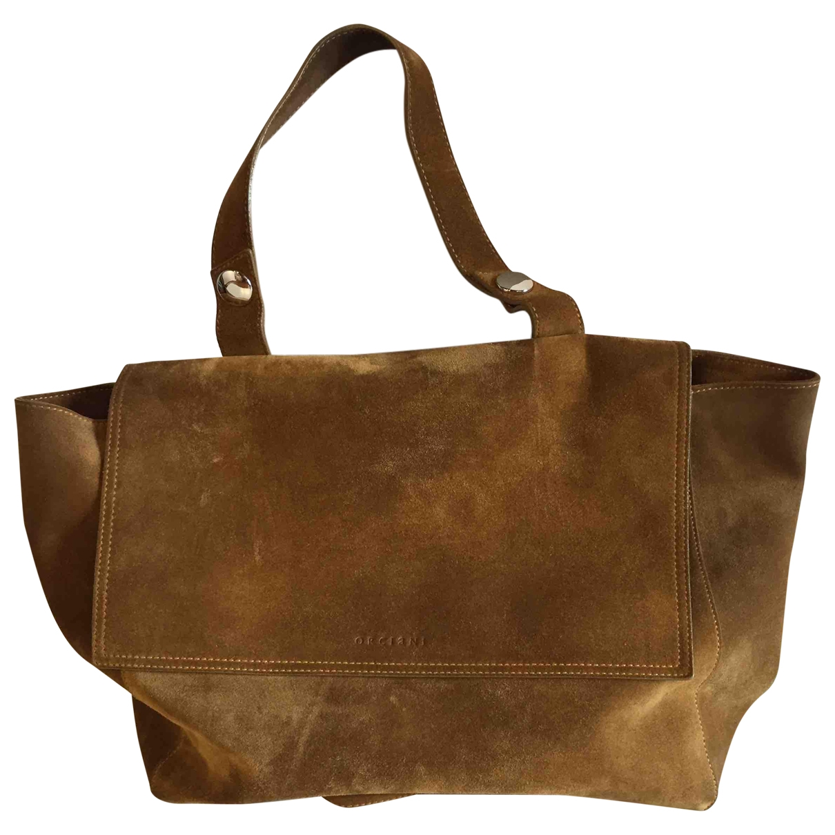 Orciani \N Handtasche in  Braun Veloursleder