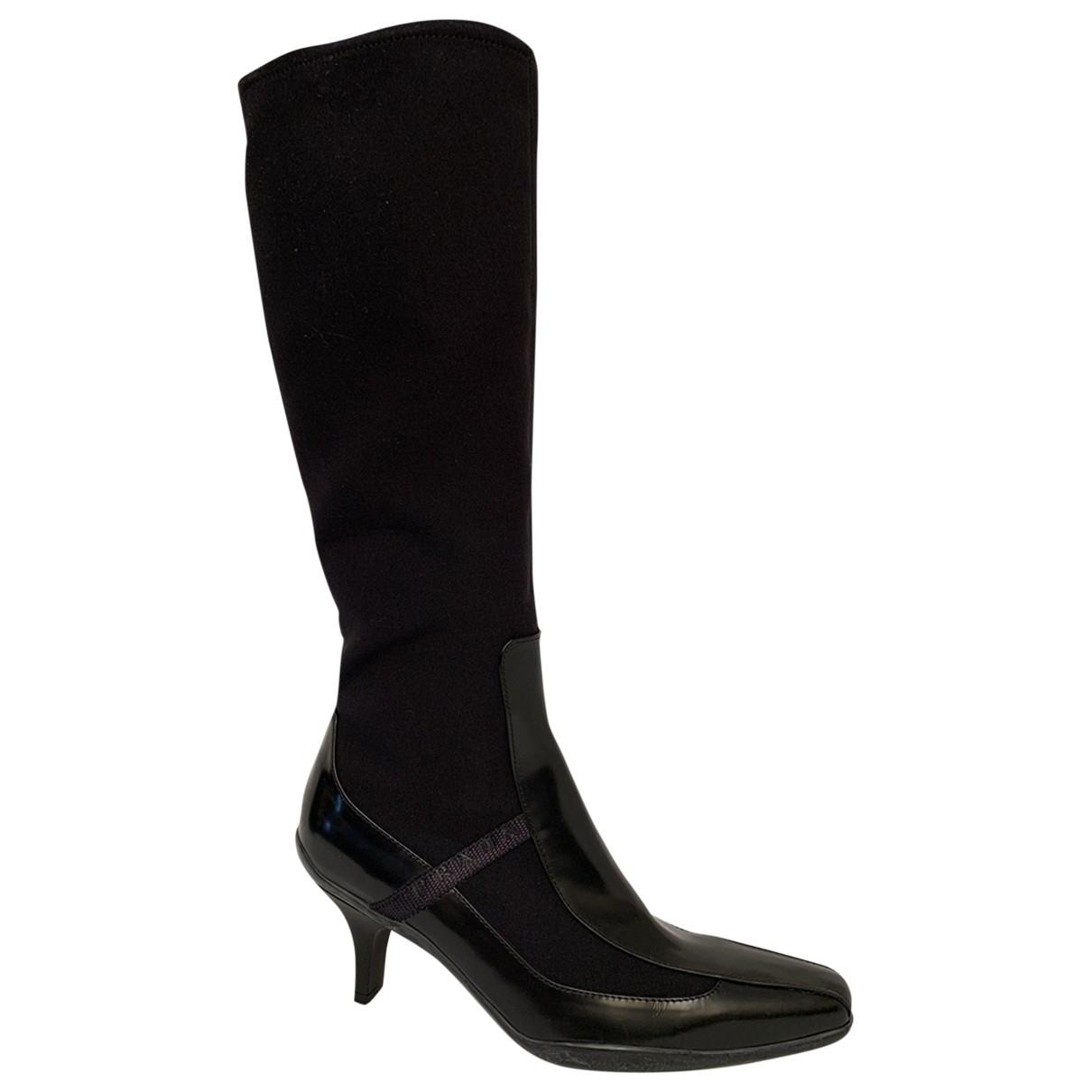 Prada \N Black Cloth Boots for Women 36 EU